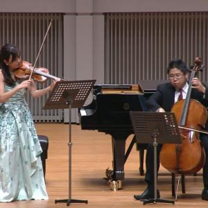 奥村愛(ヴァイオリン)辻本玲(チェロ)<br> ベートーヴェン:3つの二重奏曲第1番 ハ長調 WoO. 27 第1楽章 画像